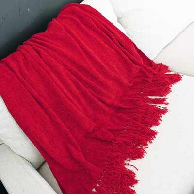 Melisande Throw Blanket Color: Red