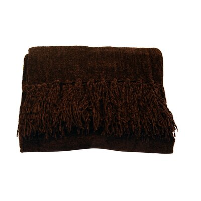 Melisande Throw Blanket Color: Chocolate