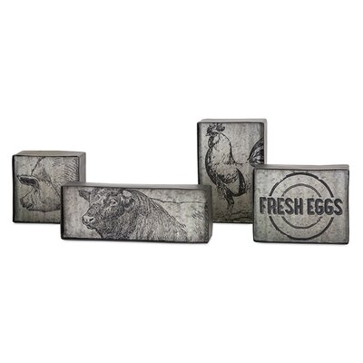 Sagebrush 4 Please Metal Decorative Plaque Set
