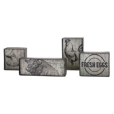 Sagebrush 4 Please Metal Decorative Plaque Set