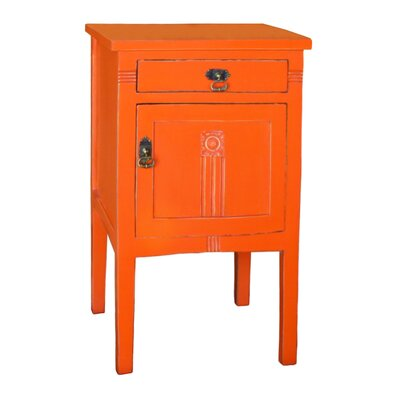 Corrie 1 Drawer Nightstand Color: Orange