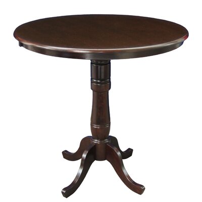 Bernadette Pub Table Tabletop Size: 42 H x 36 W x 36 D, Finish: Rich Mocha