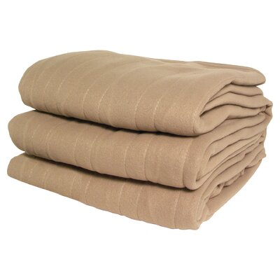 Millie Heated Knit Blanket Size: Twin, Color: Natural