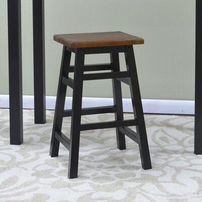 Rose Ann 23.5 Bar Stool Finish: Antique Black