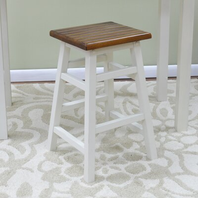 Rose Ann 23.5 Bar Stool Finish: Antique White