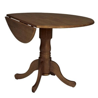 Boothby Round 42 Dual Drop Leaf Dining Table Color: Cottage Oak