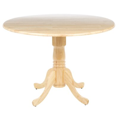 Carrie Round 42 Dual Drop Leaf Dining Table Finish: Natural