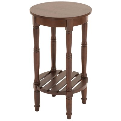 Maurice Round End Table Finish: Brown