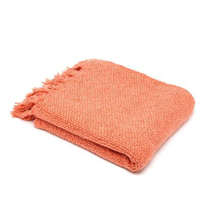 Nova Woven Throw Blanket Color: Coral