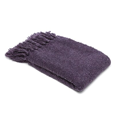 Nova Woven Throw Blanket Color: Purple