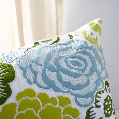 Claudia Flowers Of The Valley Throw Pillow Size: 22, Filler: Down