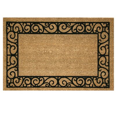 Era Natural French Quarters Doormat Rug Size: 1'8 x 2'6