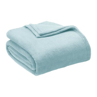 Microlight Blanket Size: Twin, Color: Sterling Blue