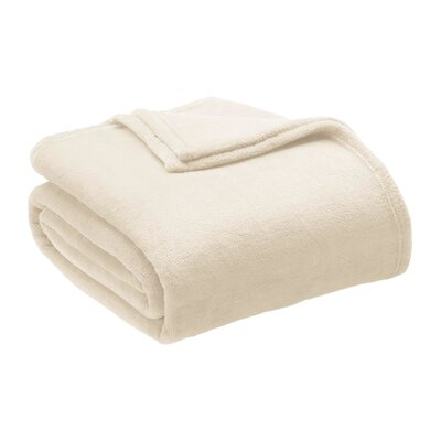 Microlight Blanket Size: King, Color: Ivory