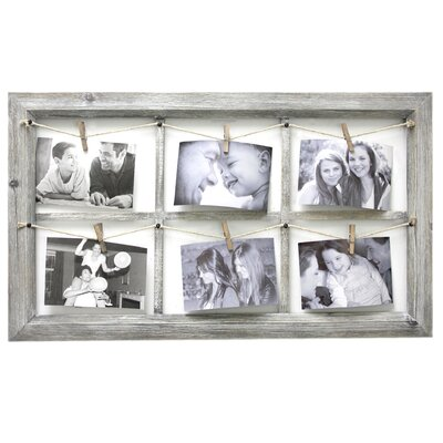 Wooden Wall Collage with Rope Picture Frame
