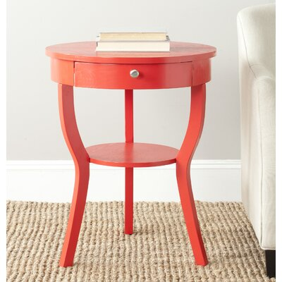 Enid End Table Finish: Hot Red