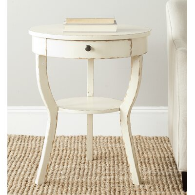 Enid End Table Color: vintage Cream