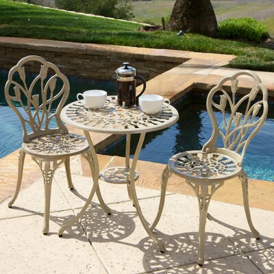 Elenora 3 Piece Bistro Set