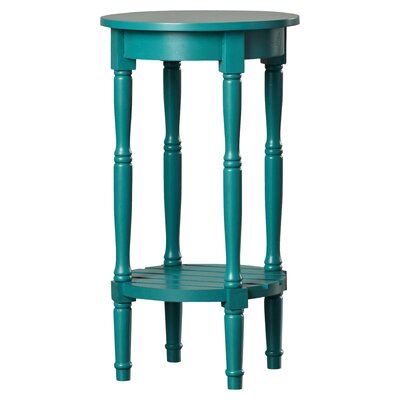 Maurice Round End Table Finish: Blue