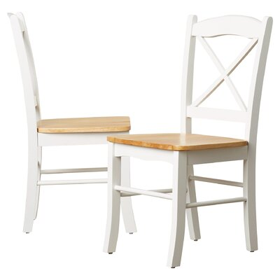 Cara Side Chair Finish: White / Natural