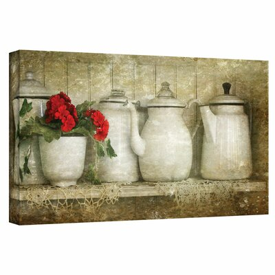 'Flower with Pots' Photographic Print on Canvas Size: 16