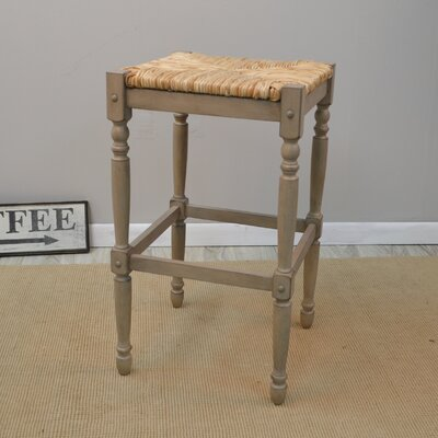 Emilia 29 Bar Stool Color: Weathered Grey