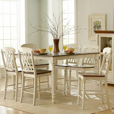 Sisson Counter Height Dining Table Finish: Antique White