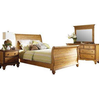 Emeline Sleigh 4 Piece Bedroom Set Size: King