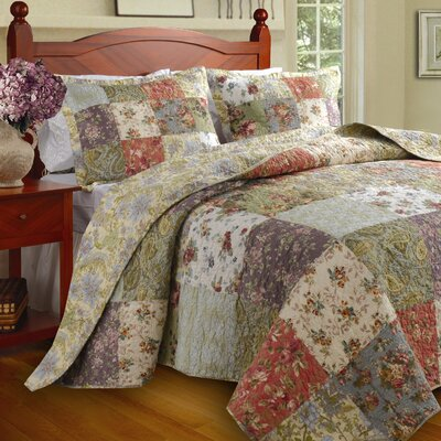 Bauer Reversible Coverlet Set Size: Queen