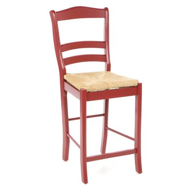 Paloma 24 Bar Stool Upholstery: Red