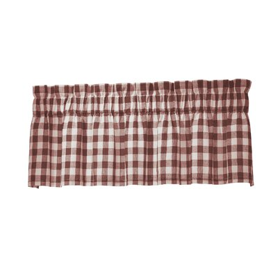 Zoe 70 Curtain Valance Color: Barn Red