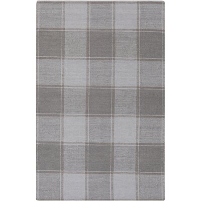 Meyers Traditional Hand-Woven Gray Area Rug Rug Size: 4 x 6
