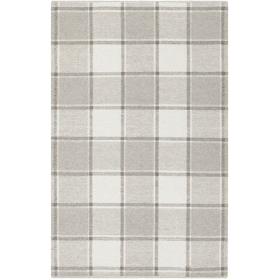 Meyers Hand-Woven Gray Area Rug Rug Size: Rectangle 5 x 76