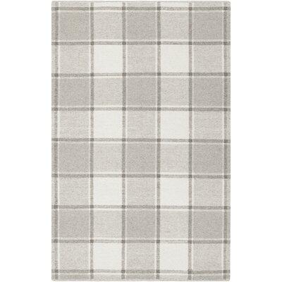 Meyers Hand-Woven Gray Area Rug Rug Size: 8 x 10