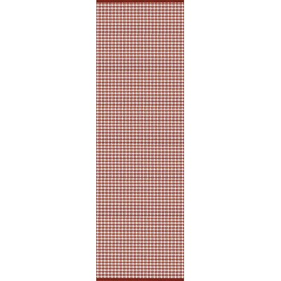 Mollie Hand-Woven Red Indoor/Outdoor Area Rug Rug Size: Runner 26 x 8