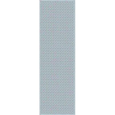 Myrtle Hand-Woven Blue Indoor/Outdoor Area Rug Rug Size: Runner 26 x 8