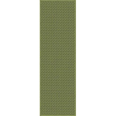 Myrtle Hand-Woven Green Indoor/Outdoor Area Rug Rug Size: Runner 26 x 8
