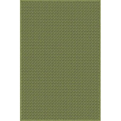 Myrtle Hand-Woven Green Indoor/Outdoor Area Rug Rug Size: 5' x 7'6