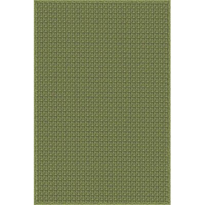 Myrtle Hand-Woven Green Indoor/Outdoor Area Rug Rug Size: 4 x 6