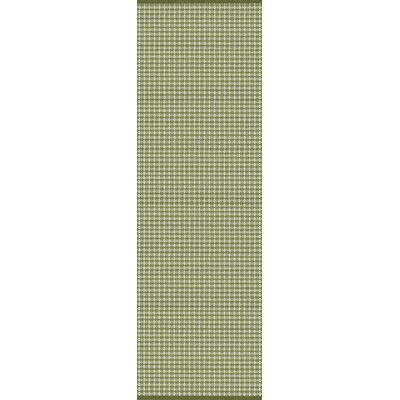 Mollie Hand-Woven Green Indoor/Outdoor Area Rug Rug Size: Runner 26 x 8