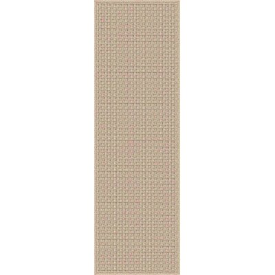 Myrtle Hand-Woven Beige Indoor/Outdoor Area Rug Rug Size: Runner 26 x 8