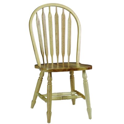 Audette Windsor Arrowback Solid Wood Dining Chair Color: Natural