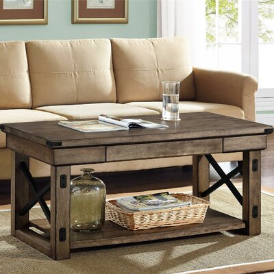Gladstone Coffee Table Color: Light Brown