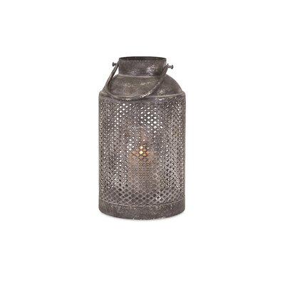 Ellendale Iron Lantern Size: Small (14 H x 7.5 W x 7.5 D)