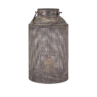 Ellendale Iron Lantern Size: Large (19 H x 10.75 W x 10.75 D)