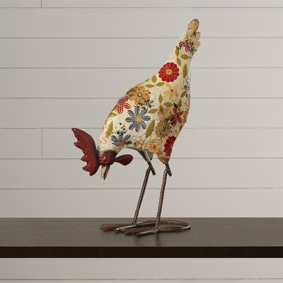 Edyth Cool Metal Rooster Figurine