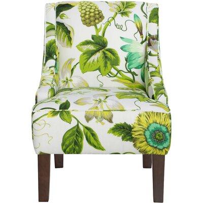 Goldhorn Armchair Upholstery: Grandiflora Jardin, Nailhead Detail: No Trim