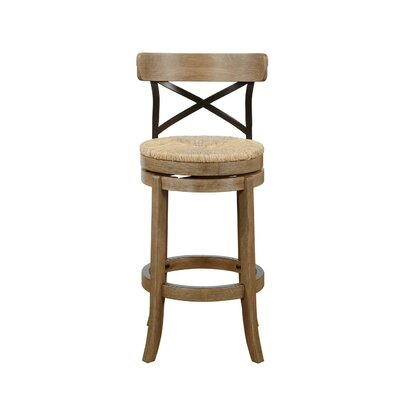 Jacklyn 29 Swivel Bar Stool Finish: Wheat Wire-Brush