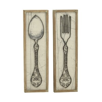 Superior 2 Piece Spoon and Fork Wall Décor Set
