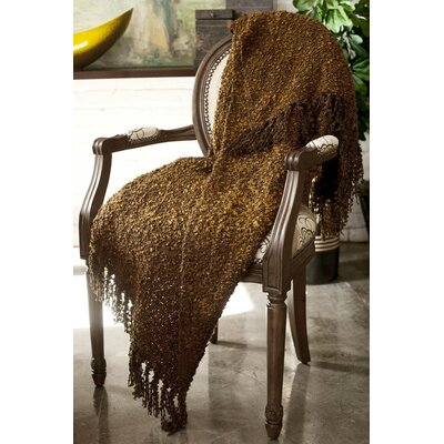 Ashton Woven Throw Blanket Color: Chocolate